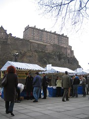 Stalls at Edinburgh's Farmers market on Castle Terrace (4)
