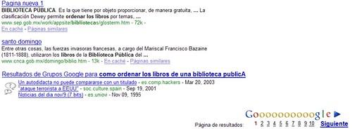 google grupos en los resultados de google