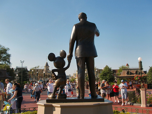Goodbye from Walt and Mickey