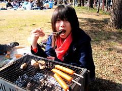 Mai-chan BBQing
