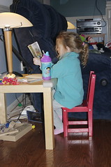 thechild at her office