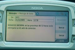 ADSL de Wanadoo por SMS