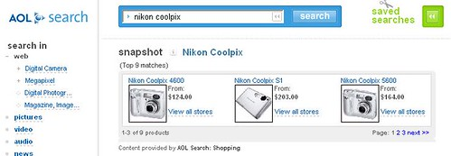 Shopzilla powering AOL Search listings