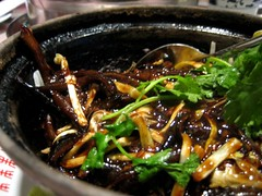 sauteed eel in hot pot