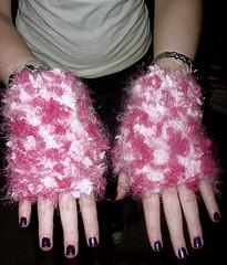 fuzzy fingerless mitts