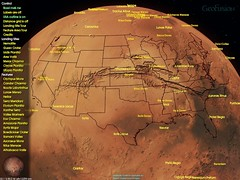 GeoPlayer Mars Vallis Marineris USA outline