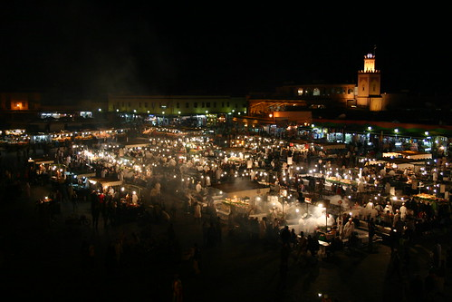 Djemaa El-Fna - Marrakechi night time smorgasbord