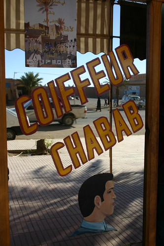 Fancy a haircut? Zagora, south-eastern Morocco