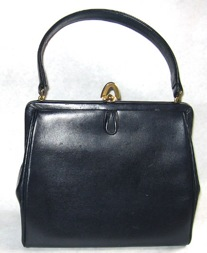 Coquette NY Navy Leather Purse