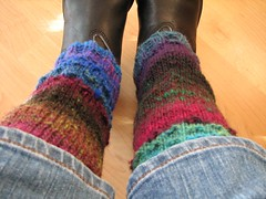 Finished legwarmers