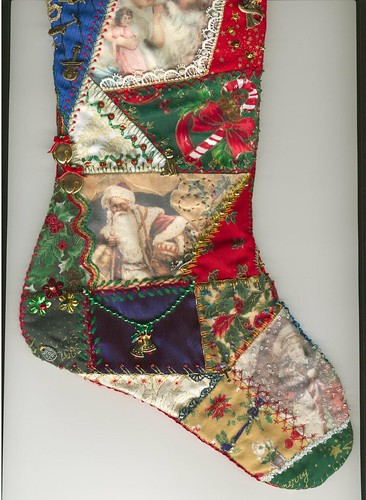 Foot of reverse side of stocking