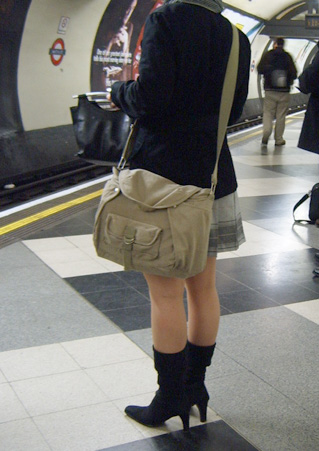 Mini Skirt on the London Underground