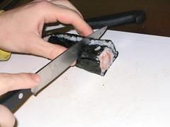 Truco para cortar el sushi