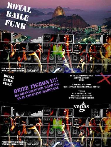 Flyer Royal Baile Funk - 16/1/2006 no Vegas em Sao Paulo