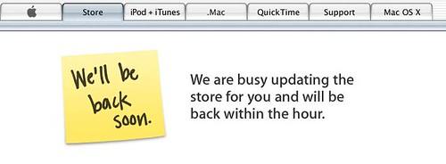 Apple store cerrada esperando las novedades