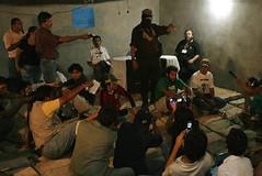 Marcos ante medios locales y nacionales, as� como organizaciones que apoyan la otra campa�a, ayer en Chetumal