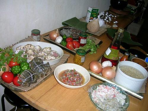 ブラジル料理教室食材1