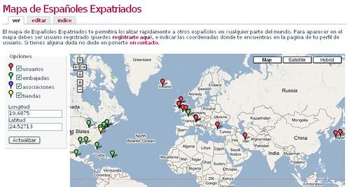 Mapa españoles expatriados class=