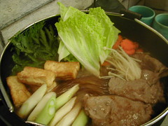 Sukiyaki, hot and fresh