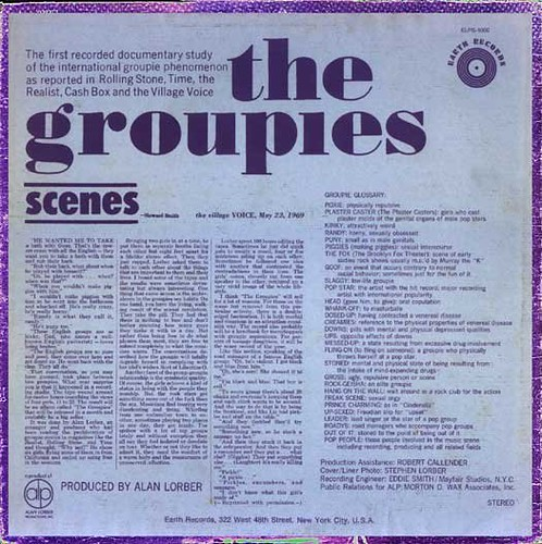 The Groupies Back Cover
