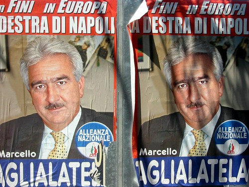 election poster in positano