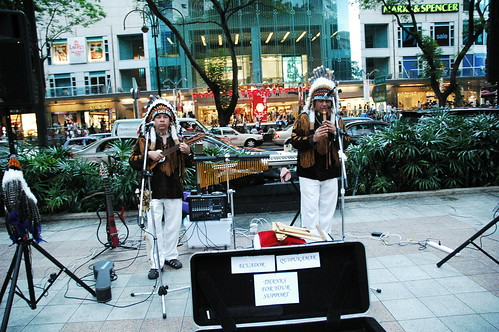 Red Indians from Cuba busking