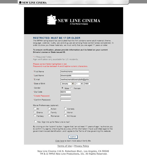 New Line Cinema - Verification