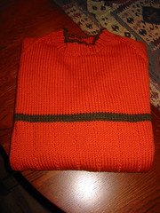 Finished Orange Sweater