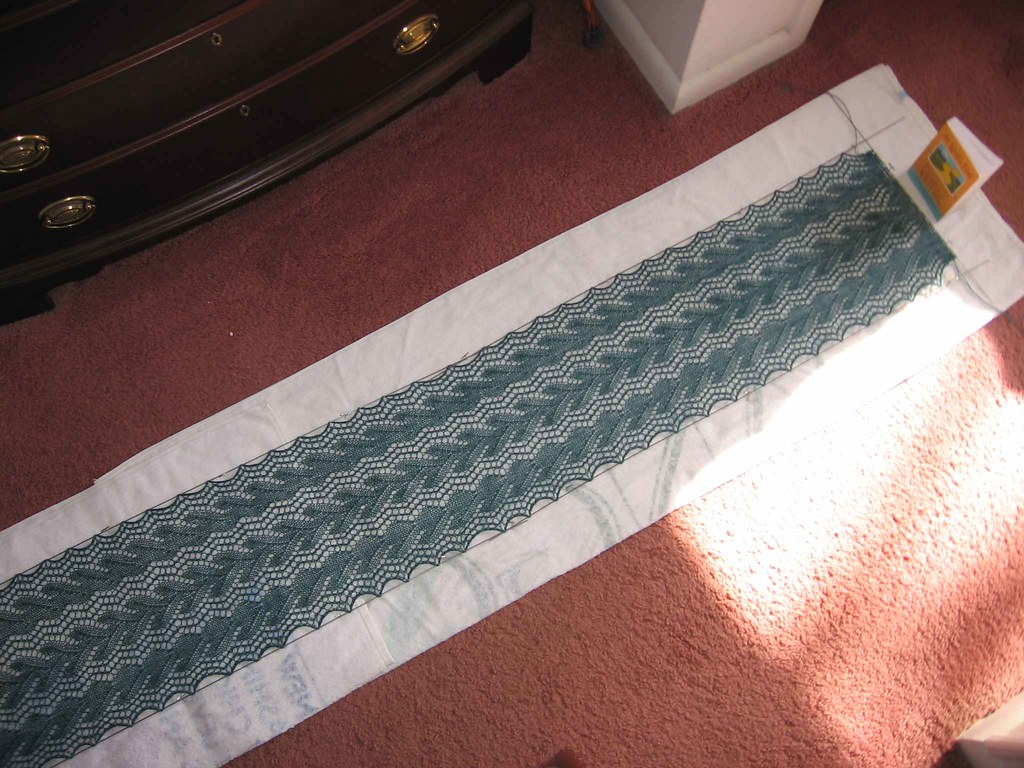 Three-quarters view of scarf