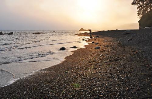 Juan de Fuca Trail, Sunset on Sombrio Beach