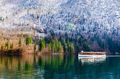 Tourist Boat on Königssee Lake photo by Sergiu Bacioiu