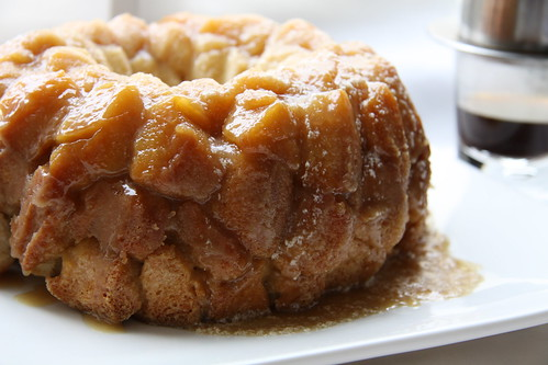 Pull Apart Monkey Bread with Vietnamese Coffee Glaze