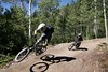 Grab a friend and head up to the Teton Village bike park.