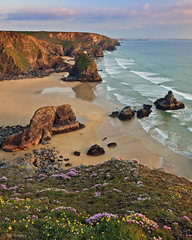 The Bedruthan Steps, St Eval, Cornwall photo by TimSmalley