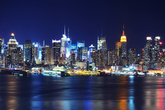 Midtown Manhattan at Night from Old Glory Park photo by andrew c mace