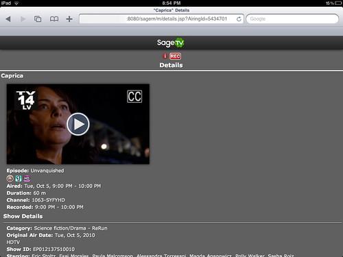 SageTV Mobile 7
