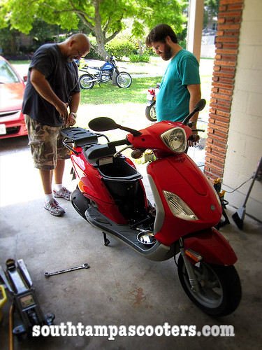 Tuning up Tyler's Scooter