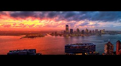 A Beautiful Catastrophe: Hudson River Sunset looking at Jersey City photo by RBudhu