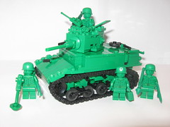 "Green Army Men M3A1 Stuart photo by ""Rumrunner"""