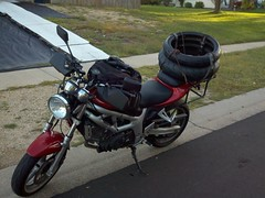 New tires for the sv650. Dunlop q2s.