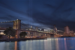 Brooklyn Bridge - 9/11 Memorial Lights photo by DiGitALGoLD