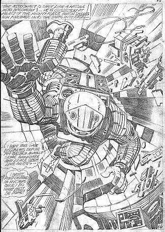 2001 A Space Odyssey Dave Bowman pencils by Jack Kirby, 1976