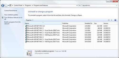 MVC Side-by-side installs