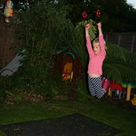 Playing in the garden on the hoops<br/>09 Oct 2010