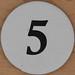 Cardboard Bingo Number 5
