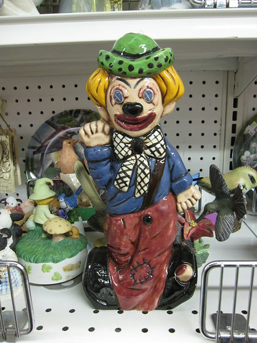 freaky clown smiling