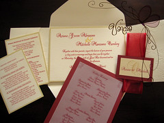 Red and Ivory Wedding Invitation photo by Invitaciones Di Vanessa