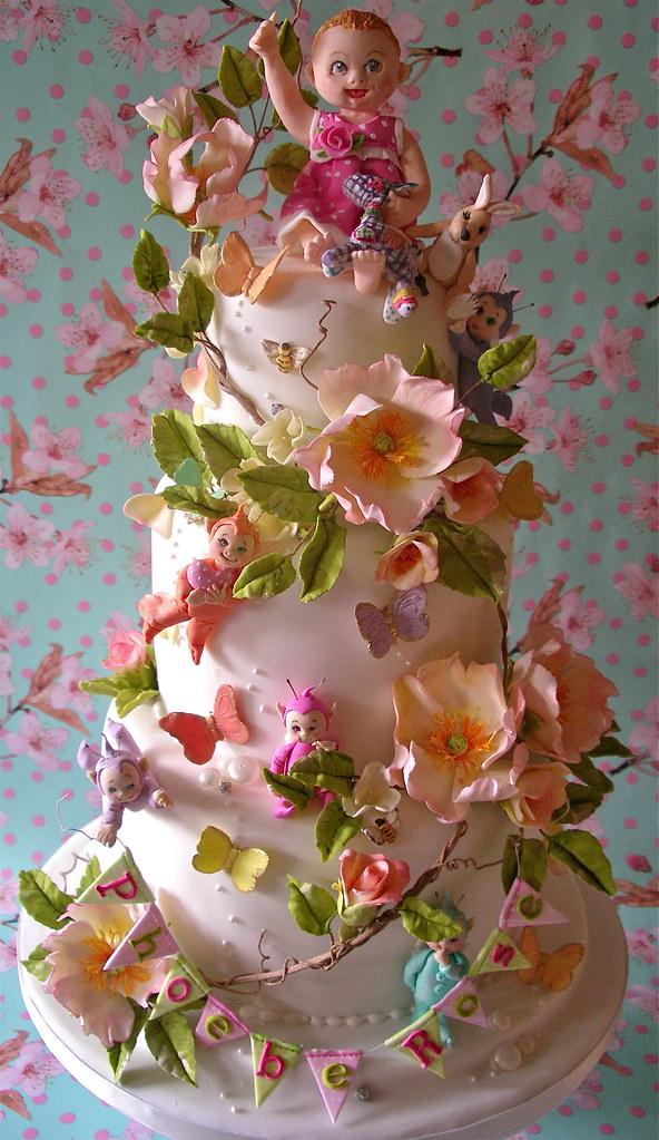 Phoebe Rose's christening cake photo by nice icing