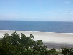 View the gulf from our room in long beach,ms