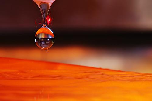 Water drop laser detection